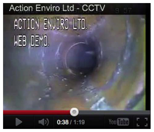 CCTV Drainage Survey Camera View